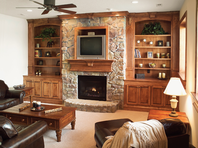 Traditional House Plan Fireplace Photo 03 051D-0544