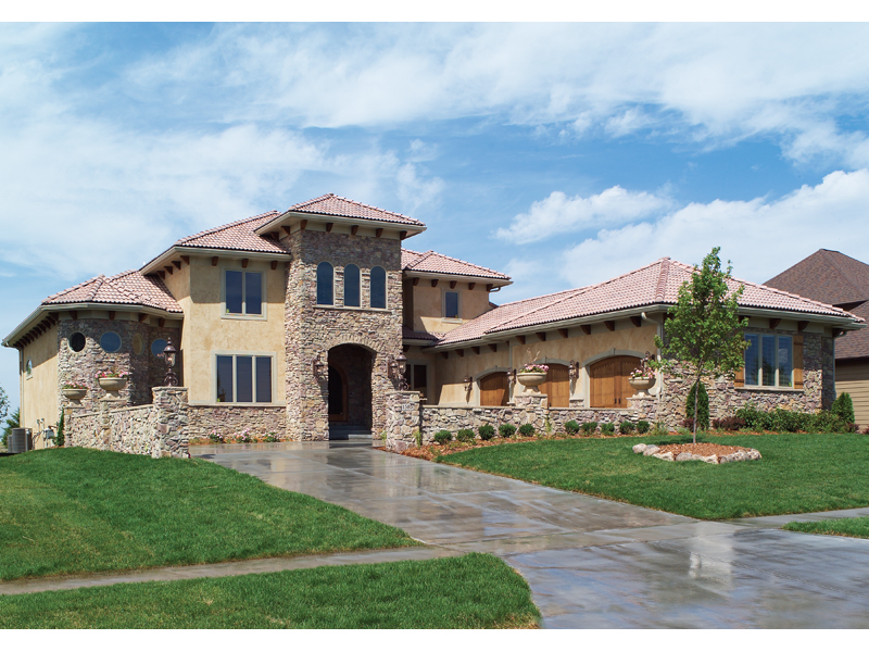 Santa Fe House Plan Front of Home 051D-0544