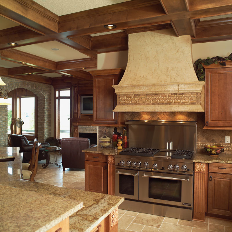 This kitchen provides New-Age efficiency in Old-World ambiance.