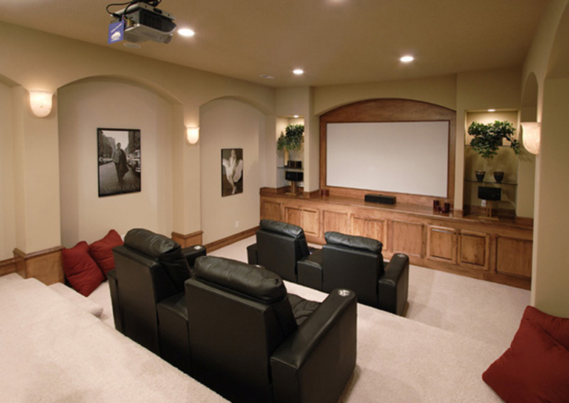 Spanish House Plan Theater Room Photo 01 051D-0544