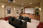 Prairie Style Floor Plan Theater Room Photo 01 - 051D-0544 | House Plans and More