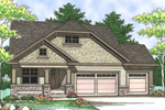 This Ranch Has Craftsman Style With Wood & Stone Columns