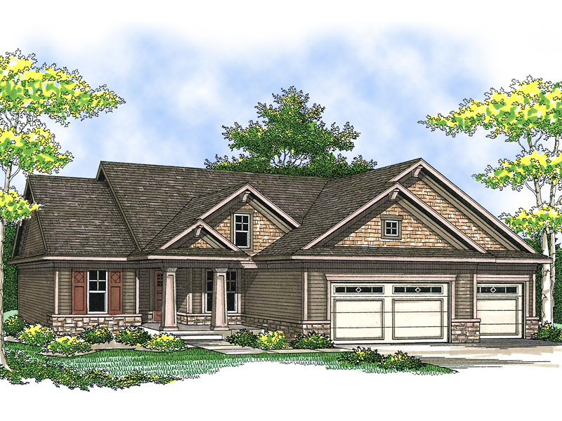 Country House Plan Front of Home - 051D-0550 | House Plans and More