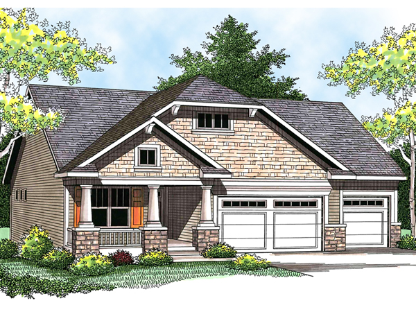 Glenkirk craftsman home plan 051d 0564 house plans and more for How much to build a craftsman style home