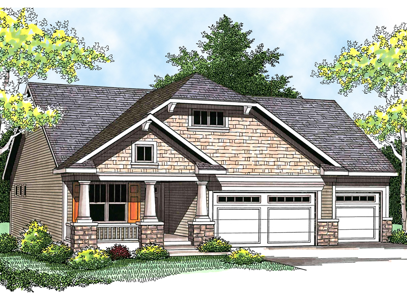 Traditional House Plan Front of Home - 051D-0564 | House Plans and More