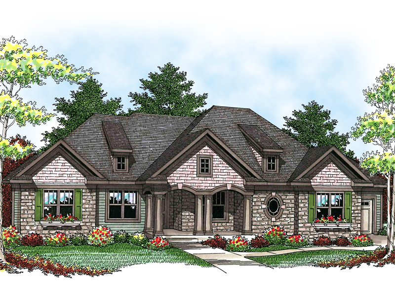 This Symmetrically Pleasing Ranch Design Maintains Craftsman Style