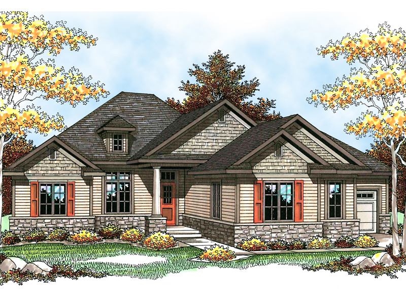 Rustic Craftsman Style Charm With Shingle Siding And Stone