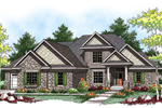 Striking Craftsman Style Two-Story House With Stone Accents