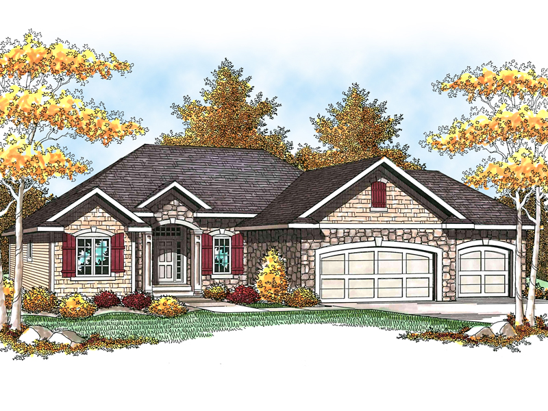 Blend Of Stone & Tile Siding Create A Timeless Country Home