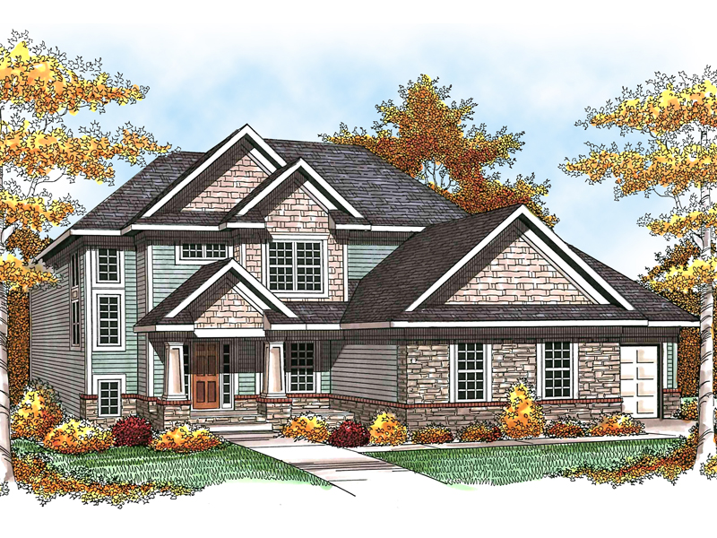 Utah Place Craftsman Home Plan 051d 0580 House Plans And