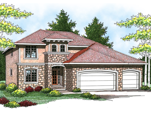 Sandollar italian style home plan 051d 0581 house plans Tuscan style house plans