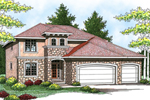 Stucco Italian Style Two-Story Perfect For Florida Or Sunbelt