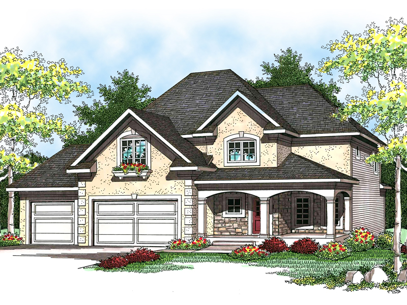 European House Plan Front of Home - 051D-0582 | House Plans and More