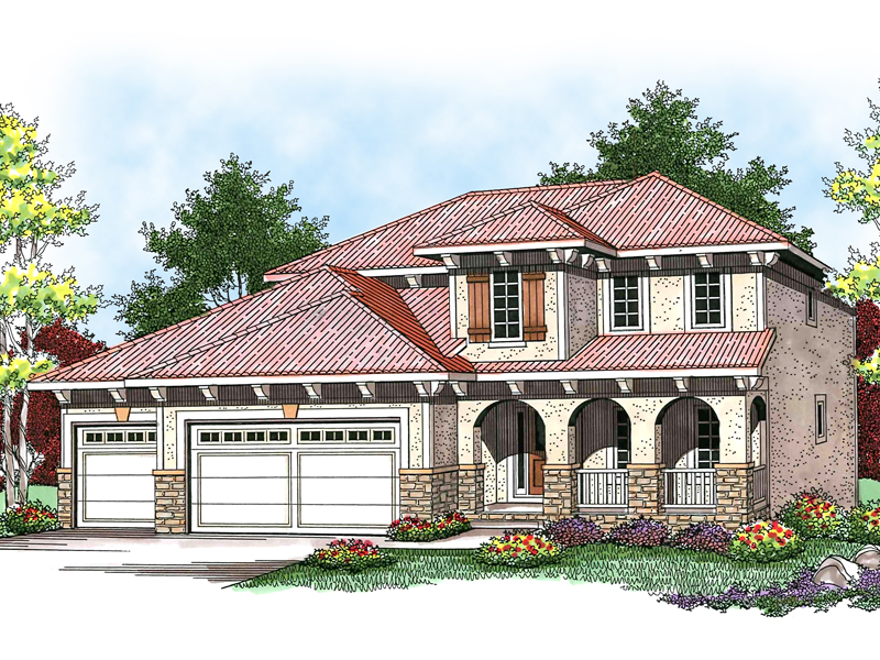 Traditional House Plan Front of Home - 051D-0583 | House Plans and More