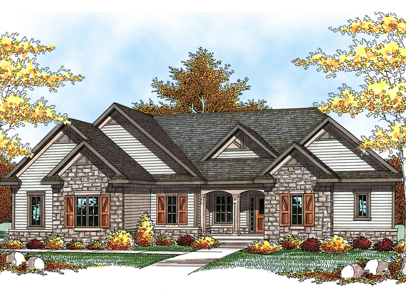 Eye-Catching Mountain Craftsman Style Home