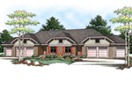 Country Style Multi-Family With Hip Roof Design