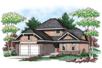 Simple Two-Story Home With Hip Style Roof
