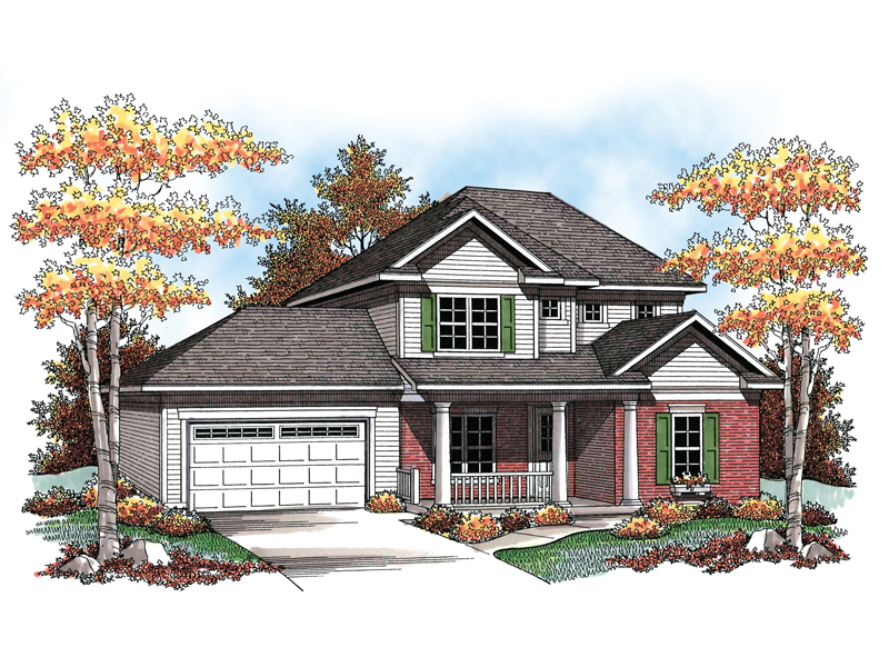 Traditional House Plan Front of Home - 051D-0600 | House Plans and More
