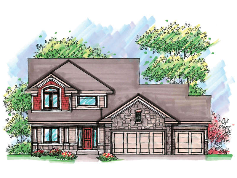 Traditional House Plan Front of Home - 051D-0601 | House Plans and More