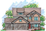 Traditional House Plan Front of Home - 051D-0603 | House Plans and More