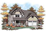 Traditional House Plan Front of Home - 051D-0604 | House Plans and More