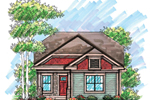 Traditional House Plan Front of Home - 051D-0606 | House Plans and More