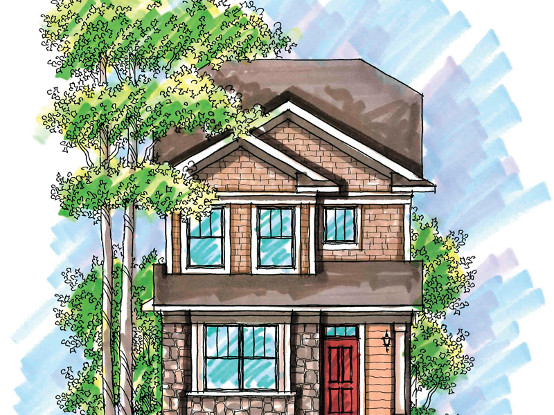 Traditional House Plan Front of Home - 051D-0607 | House Plans and More