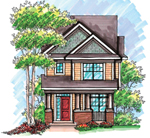 Craftsman House Plan Front of Home - 051D-0608 | House Plans and More