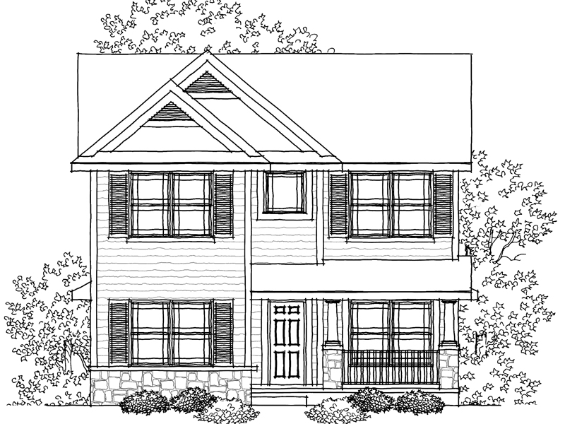 Traditional House Plan Front of Home - 051D-0609   House Plans and More