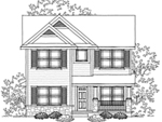 Traditional House Plan Front of Home - 051D-0609 | House Plans and More