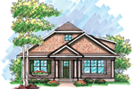 Ranch House Plan Front of Home - 051D-0610 | House Plans and More