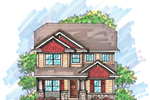 Traditional House Plan Front of Home - 051D-0611 | House Plans and More