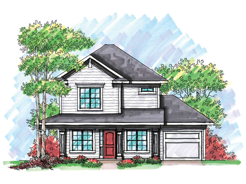 Traditional House Plan Front of Home - 051D-0612 | House Plans and More