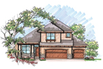Contemporary House Plan Front of Home - 051D-0615 | House Plans and More