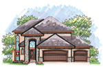Contemporary House Plan Front of Home - 051D-0616 | House Plans and More