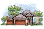 Traditional House Plan Front of Home - 051D-0624 | House Plans and More
