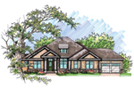 Ranch House Plan Front of Home - 051D-0627 | House Plans and More