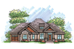 Ranch House Plan Front of Home - 051D-0628 | House Plans and More
