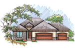 Ranch House Plan Front of Home - 051D-0630 | House Plans and More