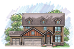 Traditional House Plan Front of Home - 051D-0631 | House Plans and More