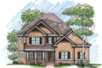 Traditional House Plan Front of Home - 051D-0632 | House Plans and More