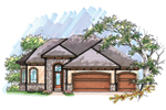 Ranch House Plan Front of Home - 051D-0633 | House Plans and More