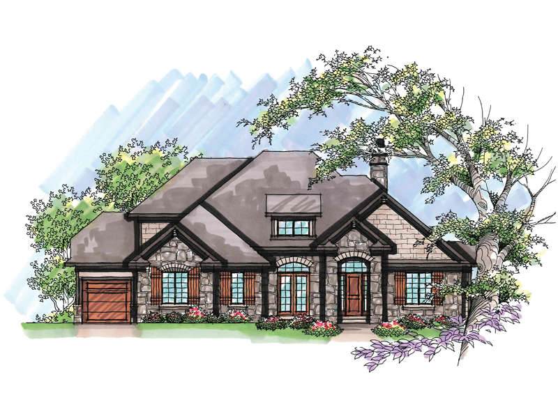 Ranch House Plan Front of Home - 051D-0635 | House Plans and More