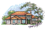 Traditional House Plan Front of Home - 051D-0636 | House Plans and More
