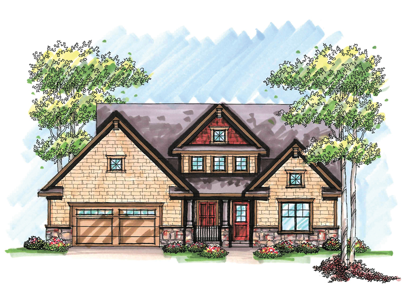 Craftsman House Plan Front of Home - 051D-0637 | House Plans and More