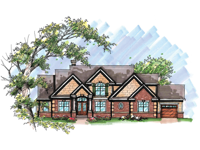 Traditional House Plan Front of Home - 051D-0638 | House Plans and More