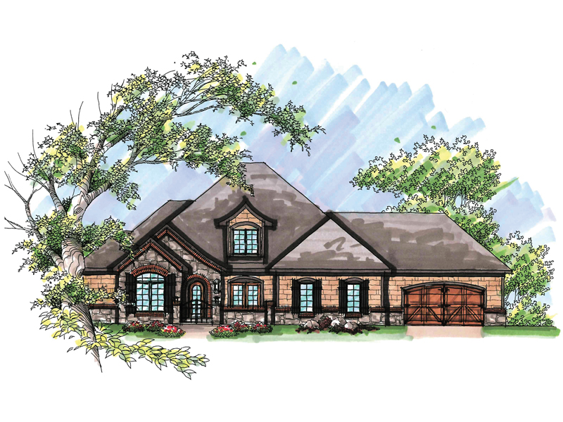 Traditional House Plan Front of Home - 051D-0639 | House Plans and More