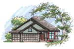 Ranch House Plan Front of Home - 051D-0641 | House Plans and More