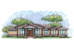 Ranch House Plan Front of Home - 051D-0644 | House Plans and More