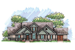 Ranch House Plan Front of Home - 051D-0645 | House Plans and More
